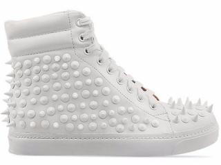 Jeffrey Campbell white spike sneakers