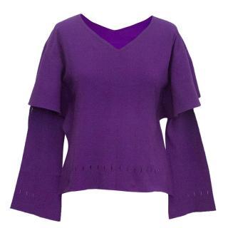 Issey Miyake purple cardigan