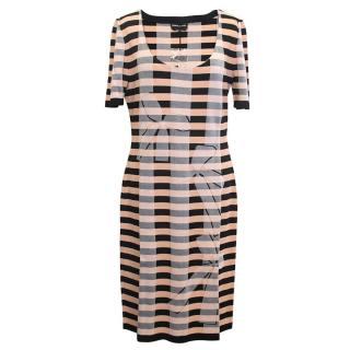 Sonia Rykiel Black and Nude Striped Dress