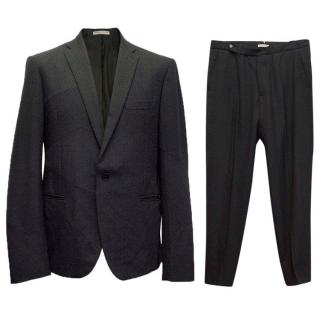 Bottega Veneta black patterned suit