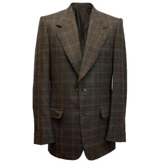 Yves Saint Laurent Brown checked blazer