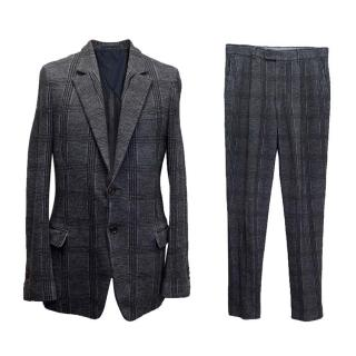 Yves Saint Laurent Charcoal checked two-piece suit