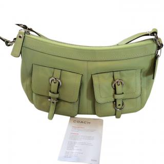Coach Hand Green Bag