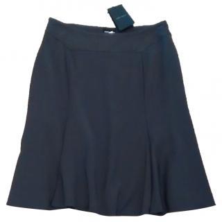 Giorgio Armani fully lined grey wool skirt