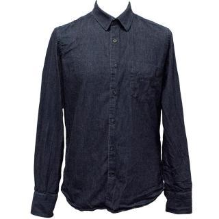 J.Lindenberg Dark wash denim shirt