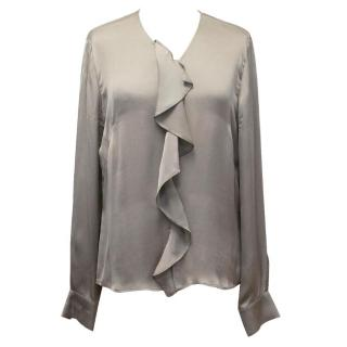 Freda grey silk top