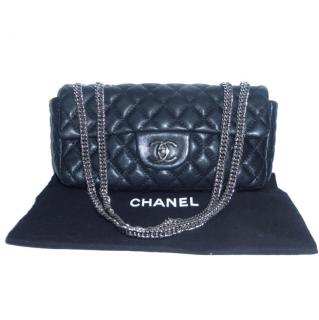 Chanel Black Leather East West Bag Bijioux Chain
