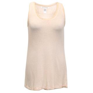 Diane von Furstenberg cream sleveless top