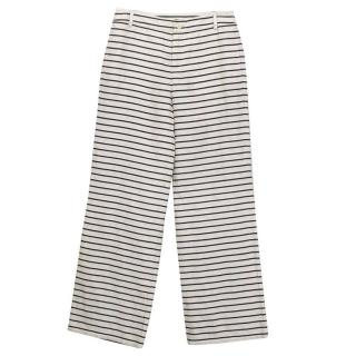 Weekend Max Mara linen black and white trousers