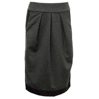 Donna Karan Grey wool pencil skirt
