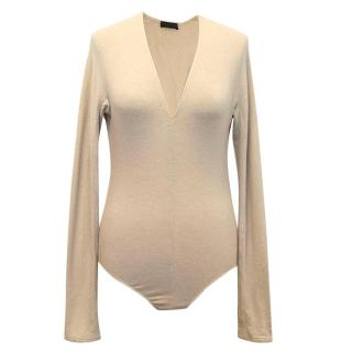 Donna Karan beige bodysuit