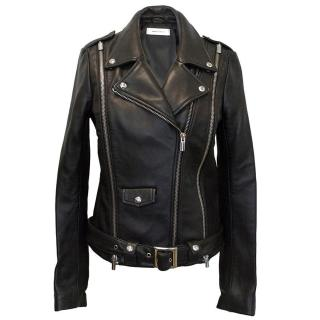 ASH black leather biker jacket