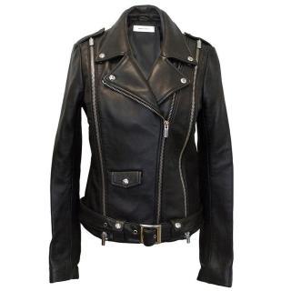 ASH black leather biker jacket