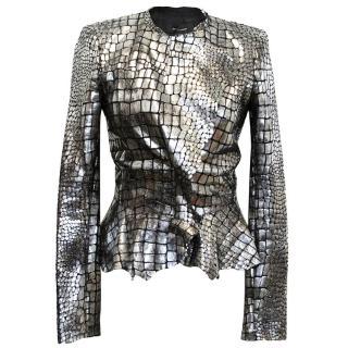 Isabel Marant Metallic silver leather Jacket