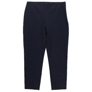 Joseph navy cropped trousers