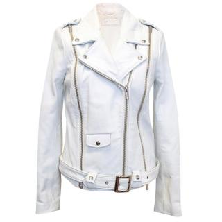 ASH white leather jacket