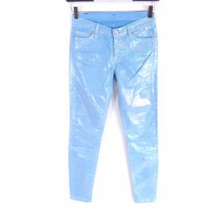 7 For All Mankind Hologram Turquoise Slim Jeans