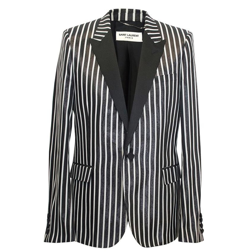 Saint Laurent men's striped blazer