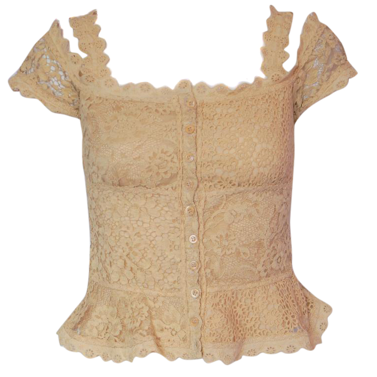 Vinatge Moschino Cheap & Chic lace top blouse in beige