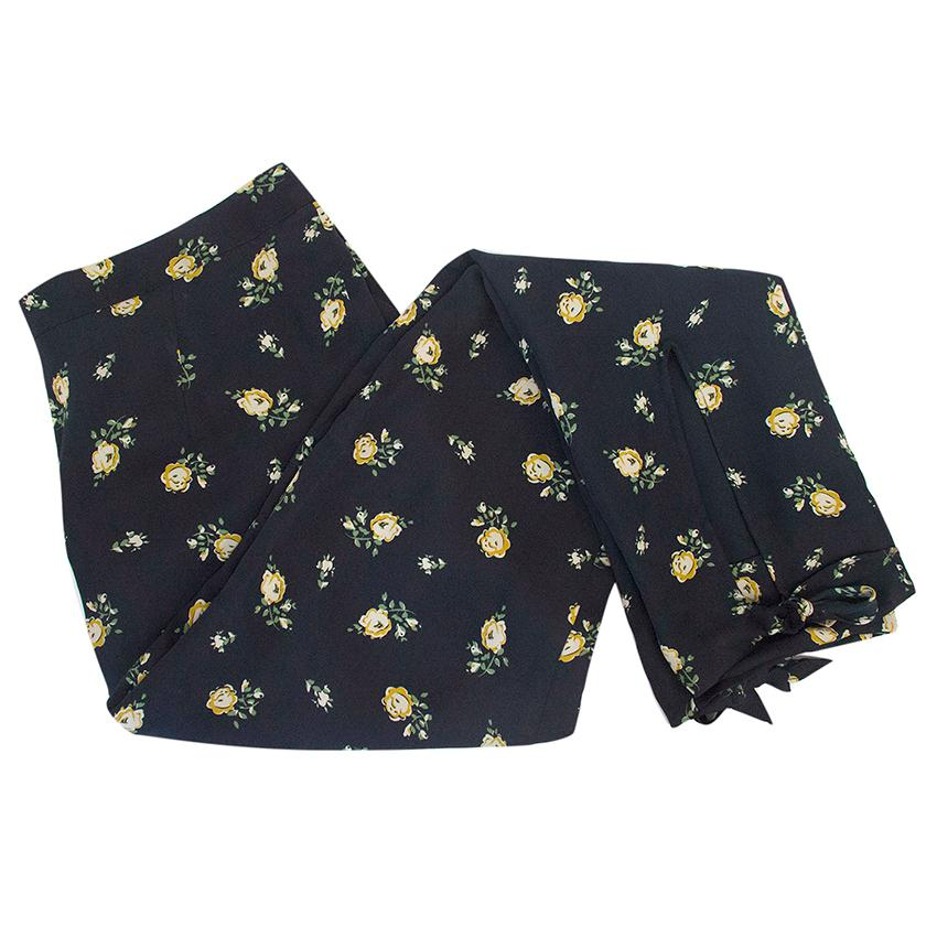 Band of Outsiders floral trousers