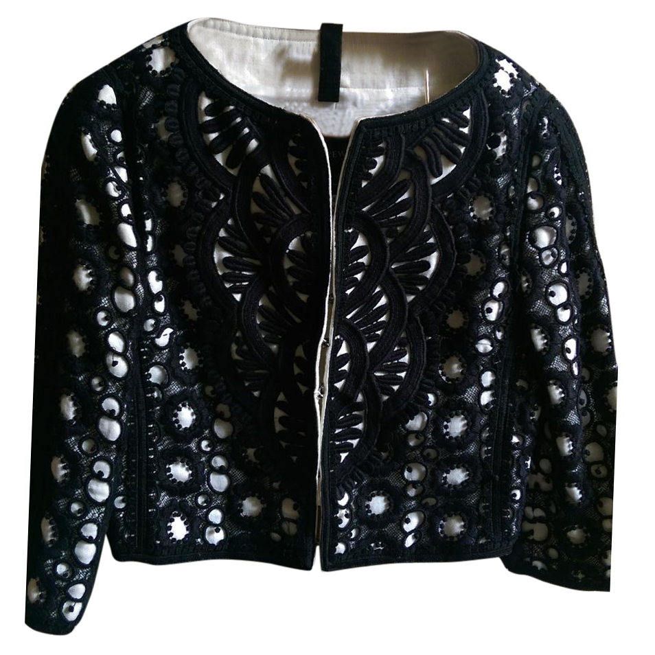 Andrew GN Black Cropped Bolero Jacket