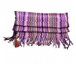 Missoni lilac signature scarf