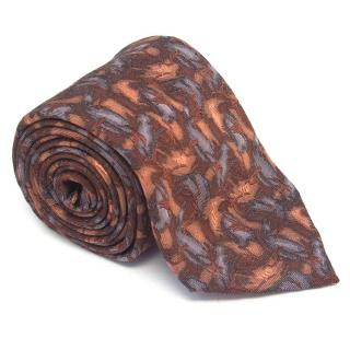 Holland and Holland copper patterned tie
