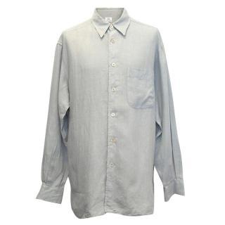 Ermanegildo Zegna duck-egg linen shirt