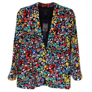 Marc by Marc Jacobs jungle print silk blazer