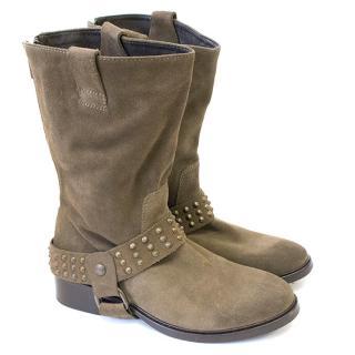 Zadig & Voltaire brown suede boots