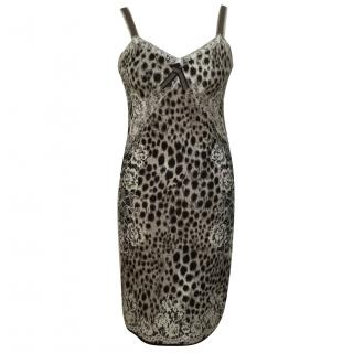 Marc Cain grey leopard print dress