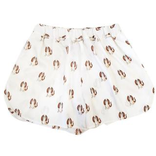 Love Moschino white shorts with dog print