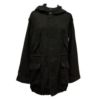 Izzue-Black jacket with hood