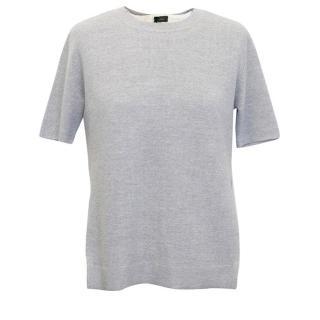 Joseph grey wool/silk top