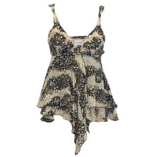 Sass & Bide black and white pattern top