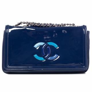 Chanel Blue Vinyl Bag