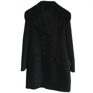 Black Burberry Prorsum coat