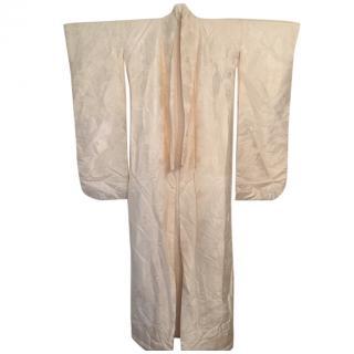 Vintage Cream Silk blend Uchikake Kimono