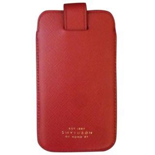 Smythson Red Panama Iphone Case