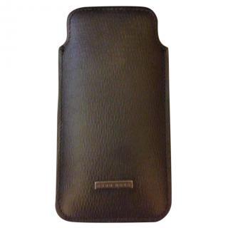 Black Hugo Boss Leather Phone case
