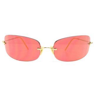 Oliver Peoples orange sunglasses