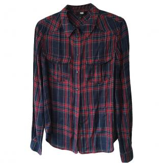 Paige Red & Blue Check Shirt