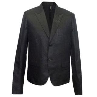 Dior men's black shiny blazer jacket