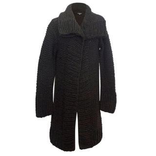 John Varvatos brown knit cardigan