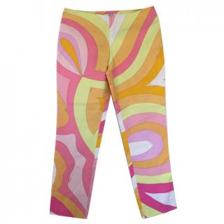 Pucci Print Cotton trousers