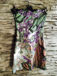 Couture EMA SAVAHL Miami Hand Painted 3D Dress