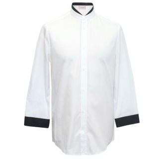 Balenciaga White Shirt With Black Collar Detail