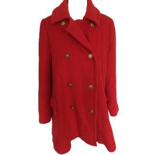 Issa Red Wool Coat
