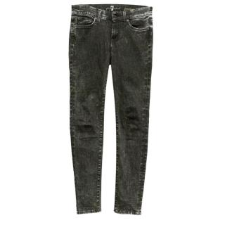 7 for all Mankind dark grey jeans.