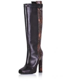 Karina IK brown leather knee high boot